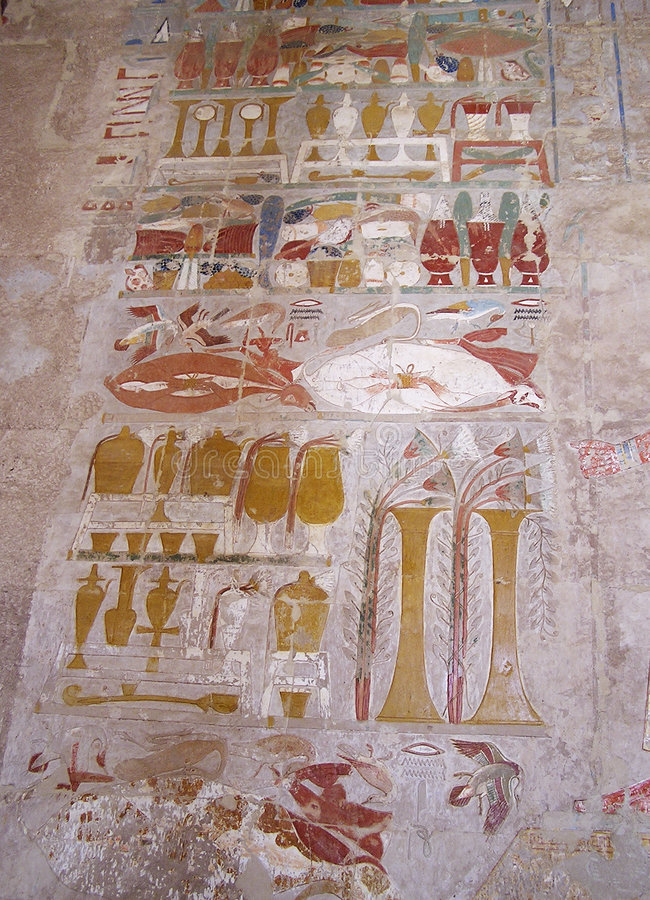 De tempel Deir Gr-Bahari van Hatshepsout (Thebes), Egypte, Afrika royalty-vrije stock foto's