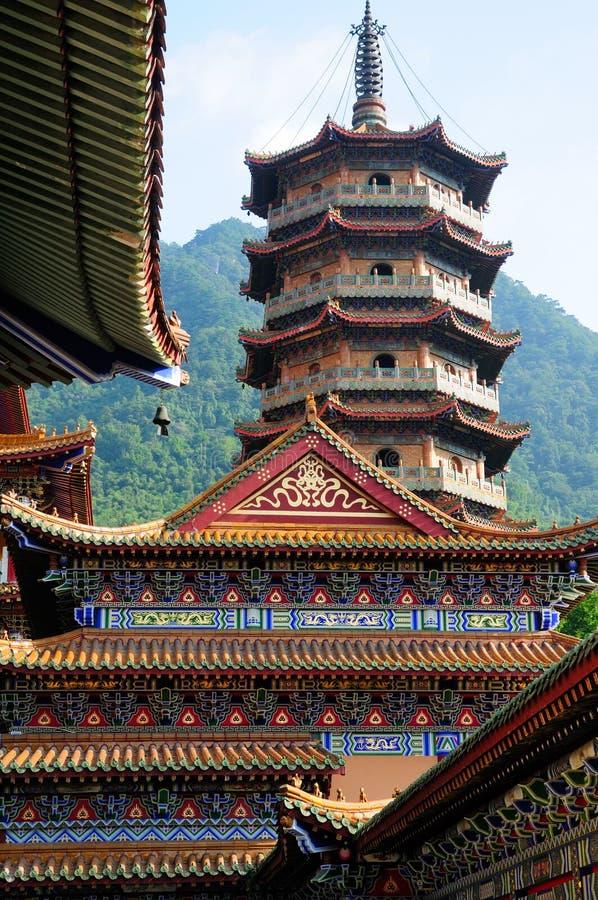 De Tempel en de Pagode van Jingsyuans royalty-vrije stock foto's