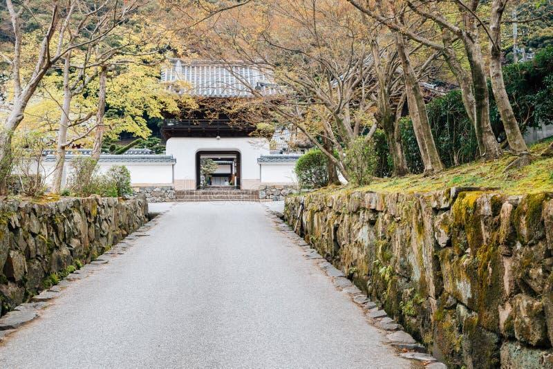 De tempel Japanse oude architectuur van Ujikoshoji in Kyoto, Japan stock foto's