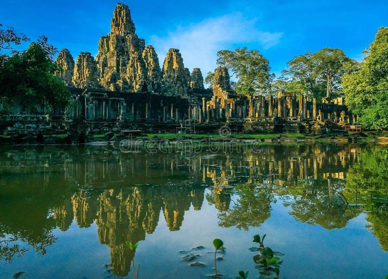 De tempel Kambodja van Angkorwat stock afbeeldingen