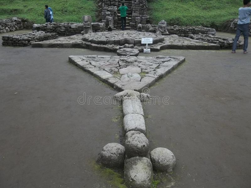 De Tempel van 'Cetho 'in Jawa Tengah, Indonesië royalty-vrije stock afbeeldingen