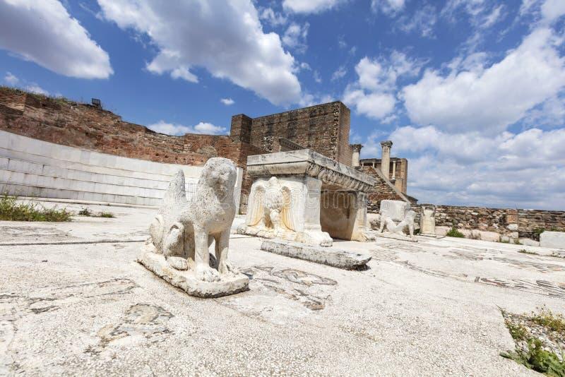 De Tempel van Artemis At Sardis Salihli, Manisa - TURKIJE stock foto's