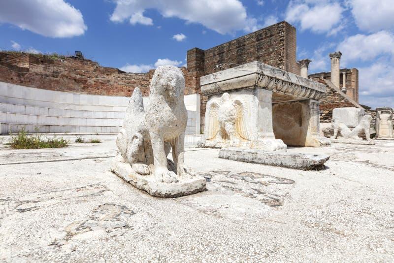 De Tempel van Artemis At Sardis Salihli, Manisa - TURKIJE royalty-vrije stock afbeeldingen