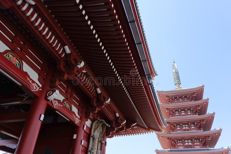 De Tempel van Asakusakannon royalty-vrije stock afbeeldingen