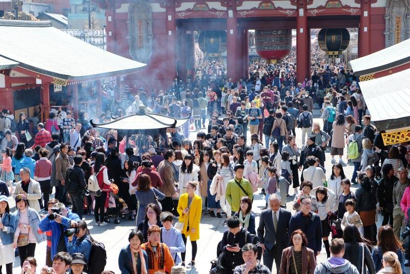 De Tempel van Asakusakannon stock foto's