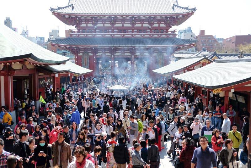 De Tempel van Asakusakannon stock fotografie