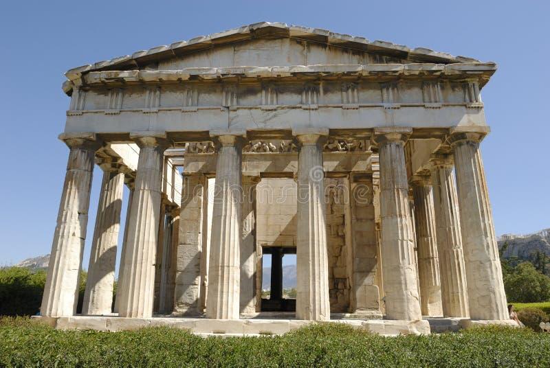 De Tempel van Athene van Hephaestus stock foto