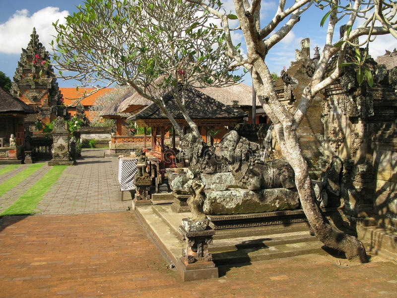 De tempel van Azië (Bali, Indonesië) stock afbeelding