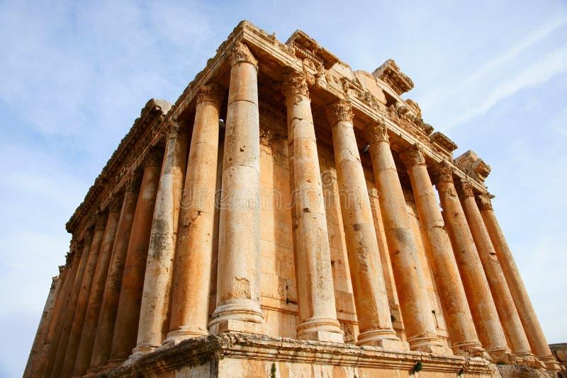 De Tempel van Bacchus stock foto's