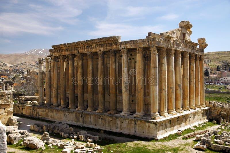 De tempel van Bacchus in Heliopolis royalty-vrije stock foto's