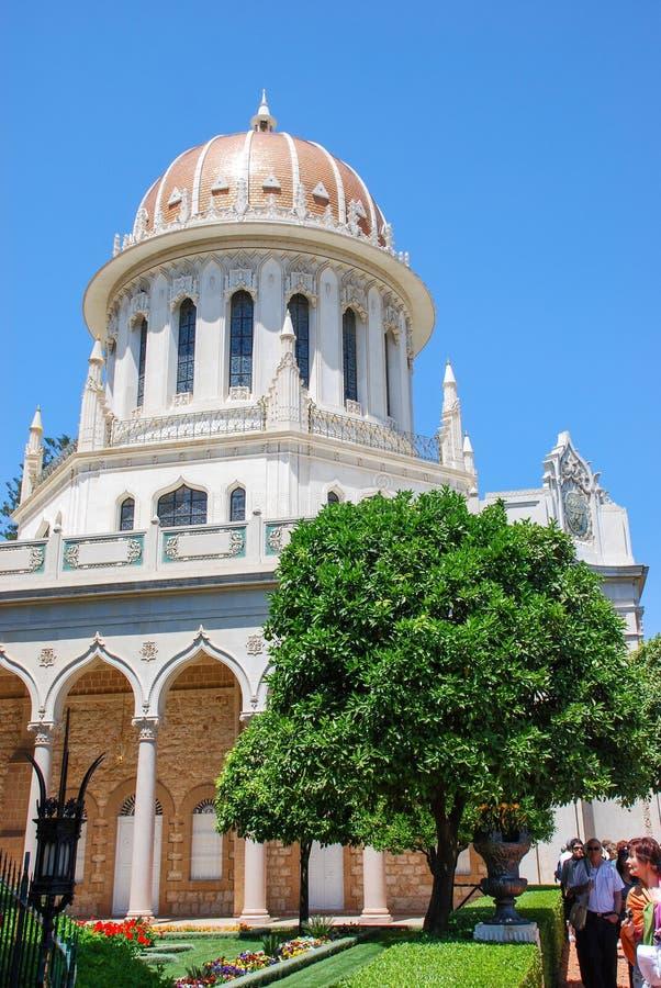 De tempel van Bahai, Haifa, Israël royalty-vrije stock afbeeldingen