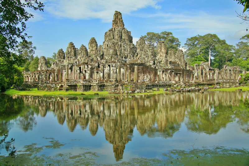 De Tempel van Bayon in Siem oogst royalty-vrije stock foto