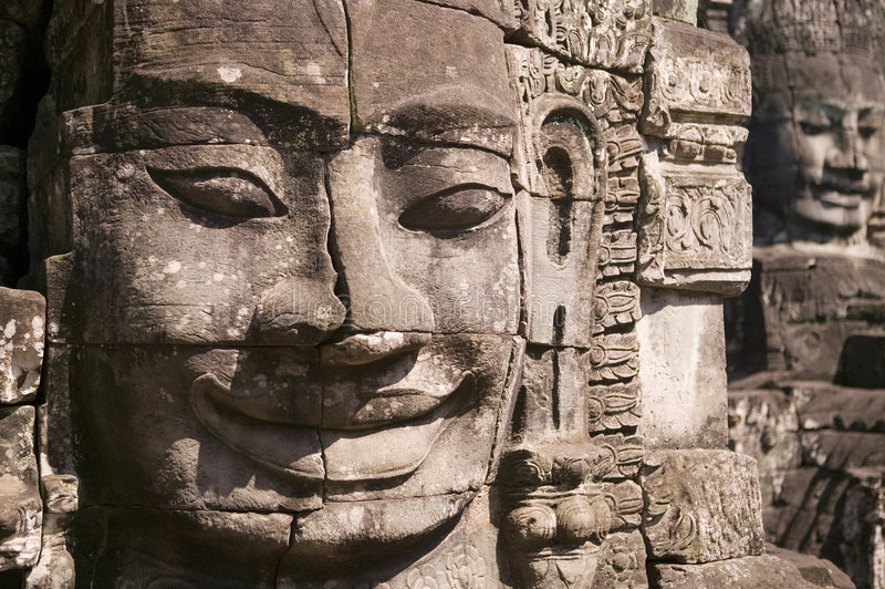 De Tempel van Bayon in Siem oogst royalty-vrije stock foto's