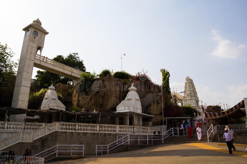 De Tempel van Birlamandir, Hyderabad, India royalty-vrije stock afbeelding