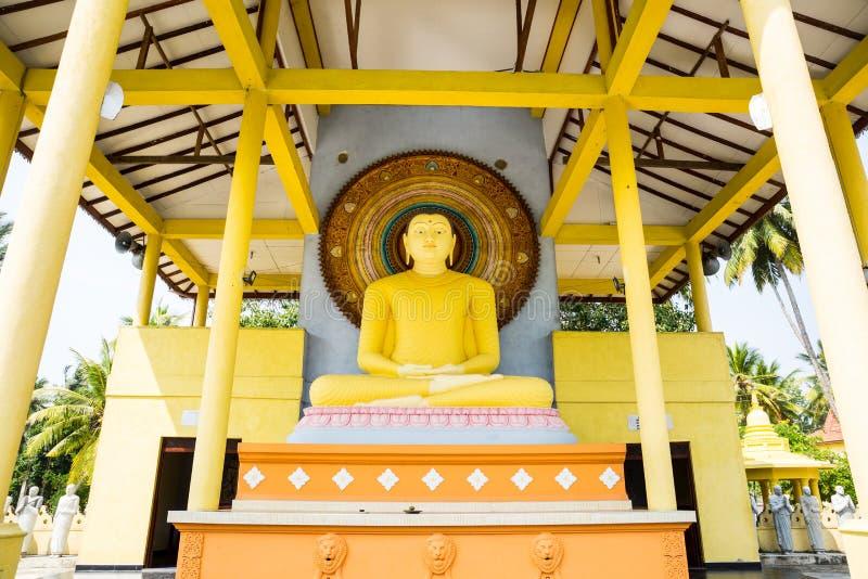 De tempel van Boedha op Sri Lanka, Ceylon stock afbeelding