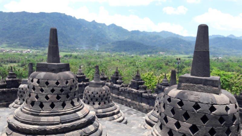 De Tempel van Borobudur stock afbeelding