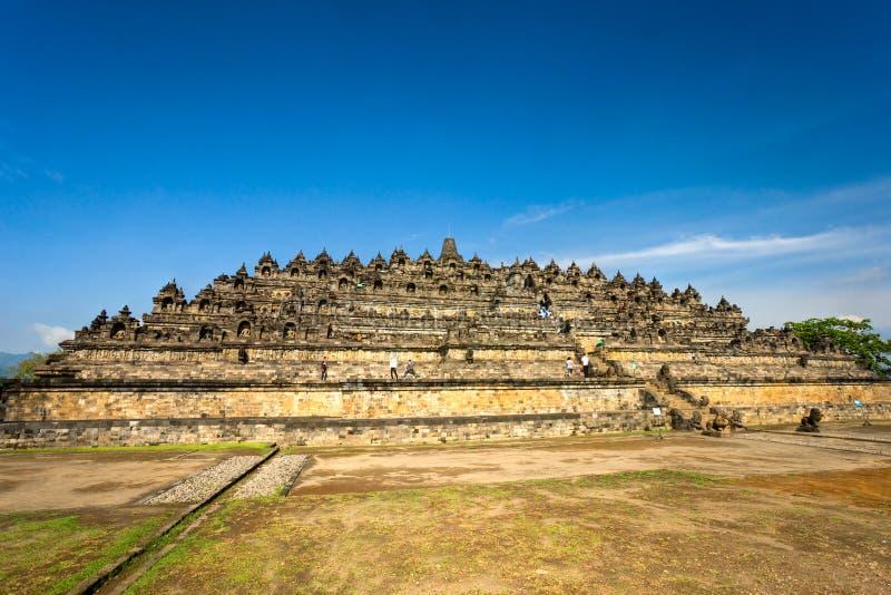 De Tempel van Borobudur, Yogyakarta, Java, Indonesië. royalty-vrije stock afbeelding