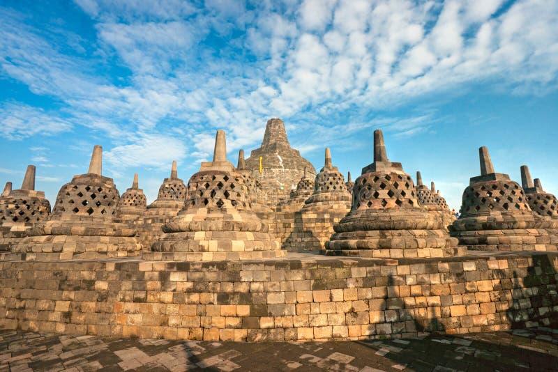 De Tempel van Borobudur, Yogyakarta, Java, Indonesië. stock fotografie