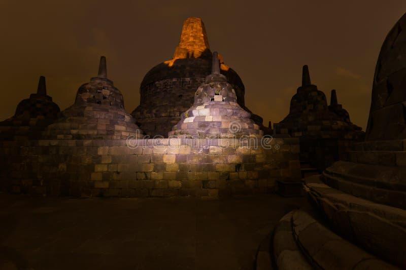 De Tempel van Borobudurbuddist - eiland Java Indonesia stock foto