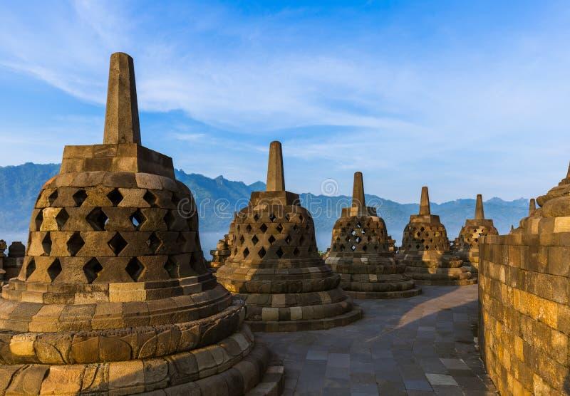 De Tempel van Borobudurbuddist - eiland Java Indonesia royalty-vrije stock afbeeldingen