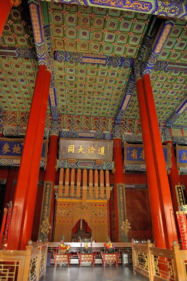 De Tempel van Confucius in Peking, China stock foto's