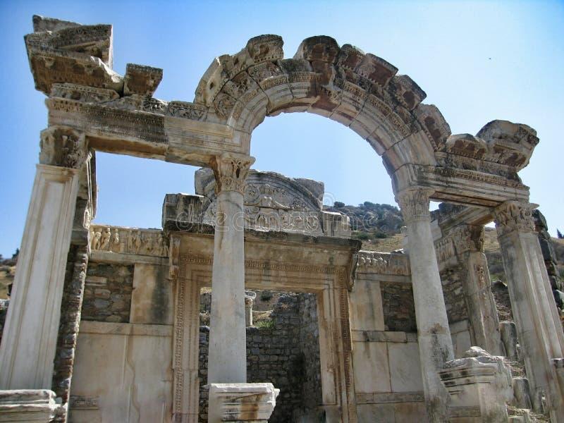 De tempel van de Artemidekerk - zevende wonder van de wereld stock foto's