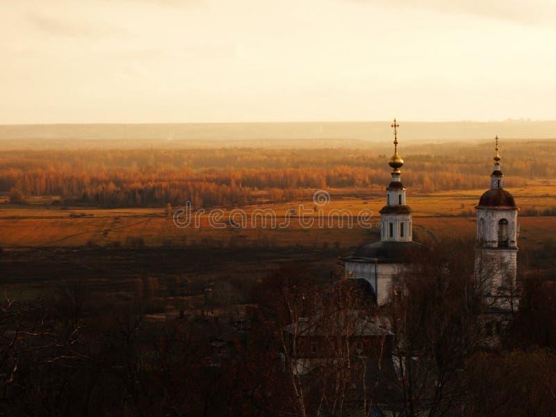 De Tempel van de Beklimming van Vladimir. stock afbeeldingen