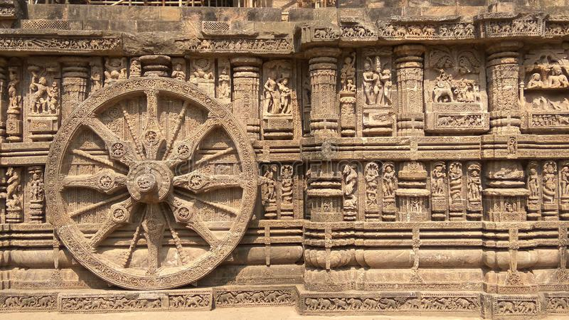 De Tempel van de Konarkzon - Architecturale Schoonheid van India royalty-vrije stock fotografie