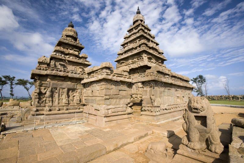 De Tempel van de kust - Tamil Nadu - India royalty-vrije stock foto's