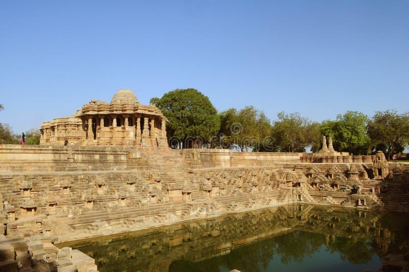 De Tempel van de Modherazon, Gujarat royalty-vrije stock foto's