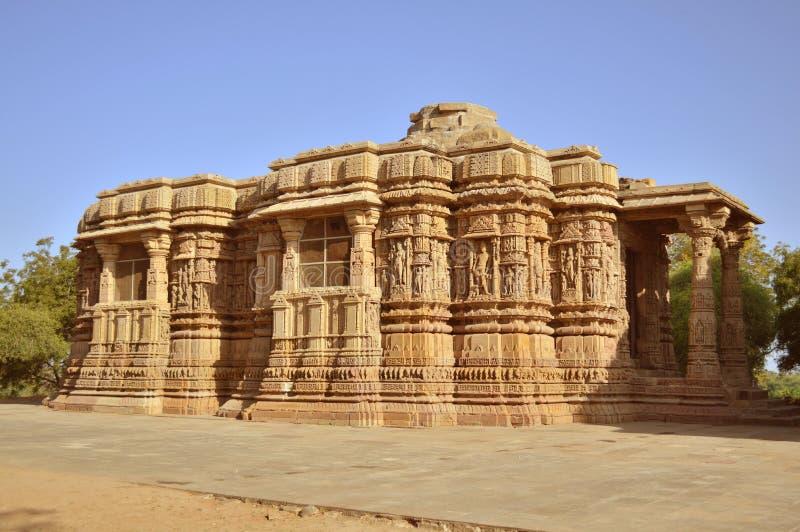 De Tempel van de Modherazon, Gujarat royalty-vrije stock afbeeldingen