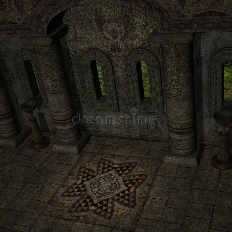 De Tempel van de mysticus stock illustratie