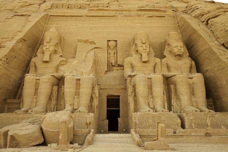 De tempel van de rots van rameses II royalty-vrije stock fotografie