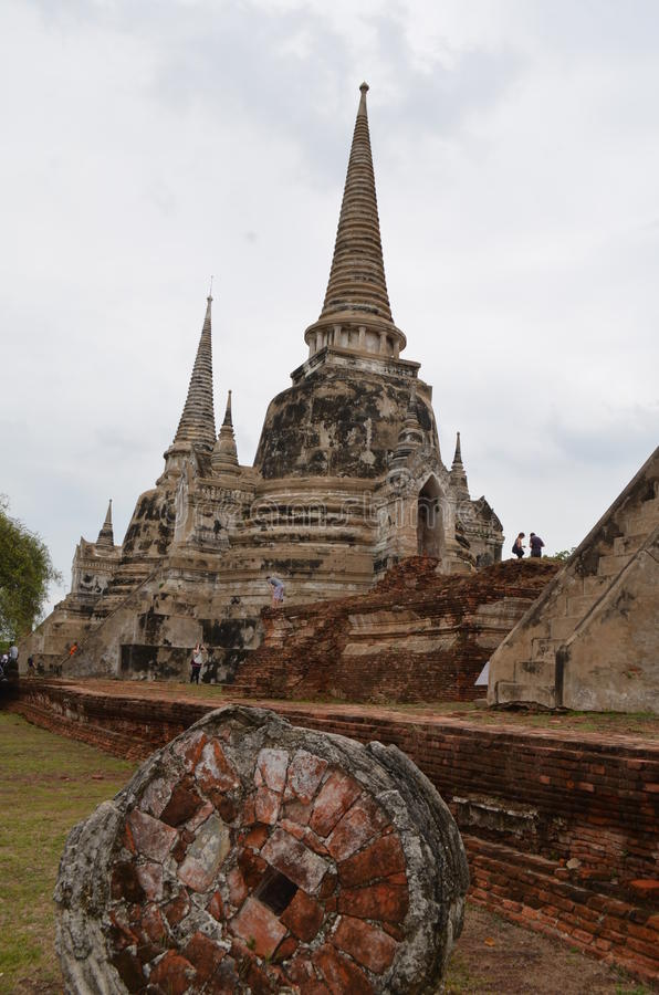De Tempel van de ruïne in Thailand royalty-vrije stock foto