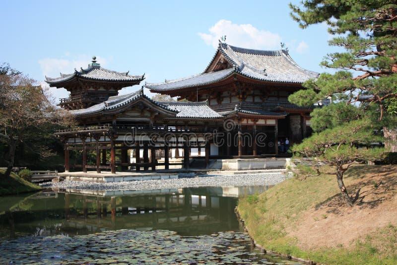De tempel van de zaal van Phoenix van Byodoin, Uji, Kyoto Japan stock fotografie