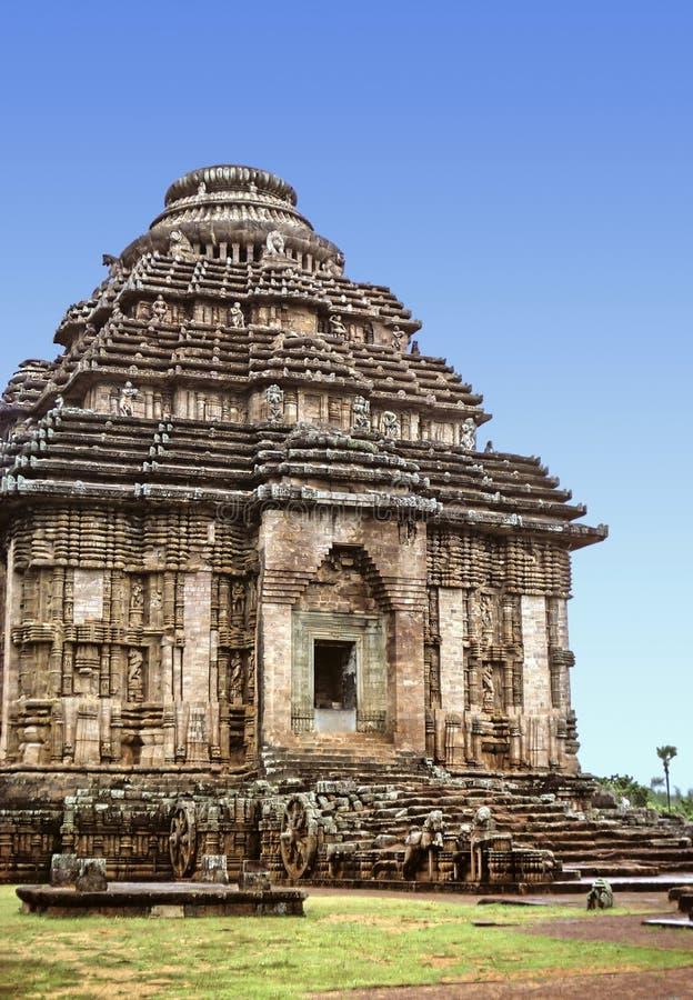 De Tempel van de Zon van Konark royalty-vrije stock afbeeldingen