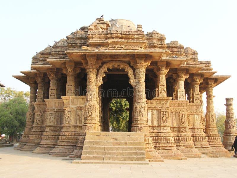 De Tempel van de Zon van Modhera stock foto's