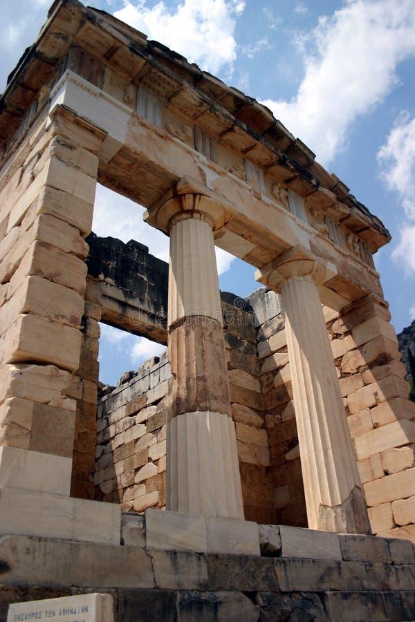 De Tempel van Delphi van Athena stock afbeelding