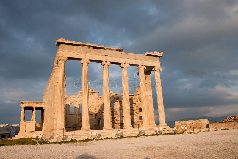 De tempel van Erechtheum stock afbeelding