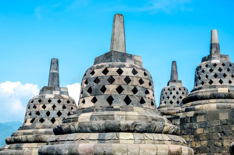 De Tempel van erfenisbuddist Borobudur, Centraal Java, Yogyakarta, Indo royalty-vrije stock foto's