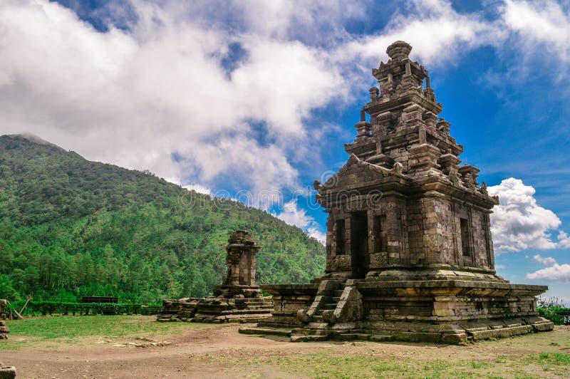 De tempel van Gedongsongo royalty-vrije stock afbeelding