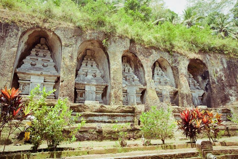 De tempel van Gunungkawi in Bali royalty-vrije stock fotografie