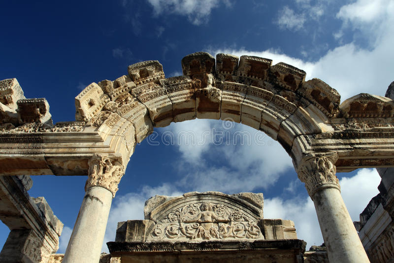 De tempel van Hadrian royalty-vrije stock afbeelding