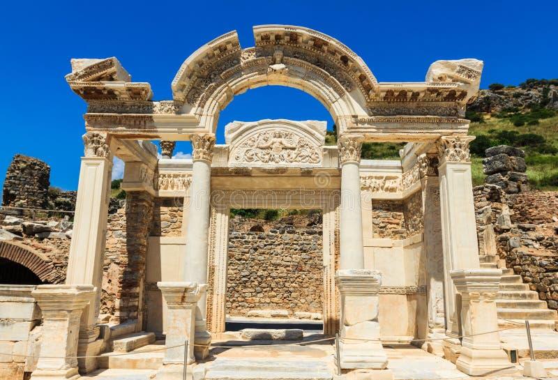 De Tempel van Hadrian stock afbeeldingen