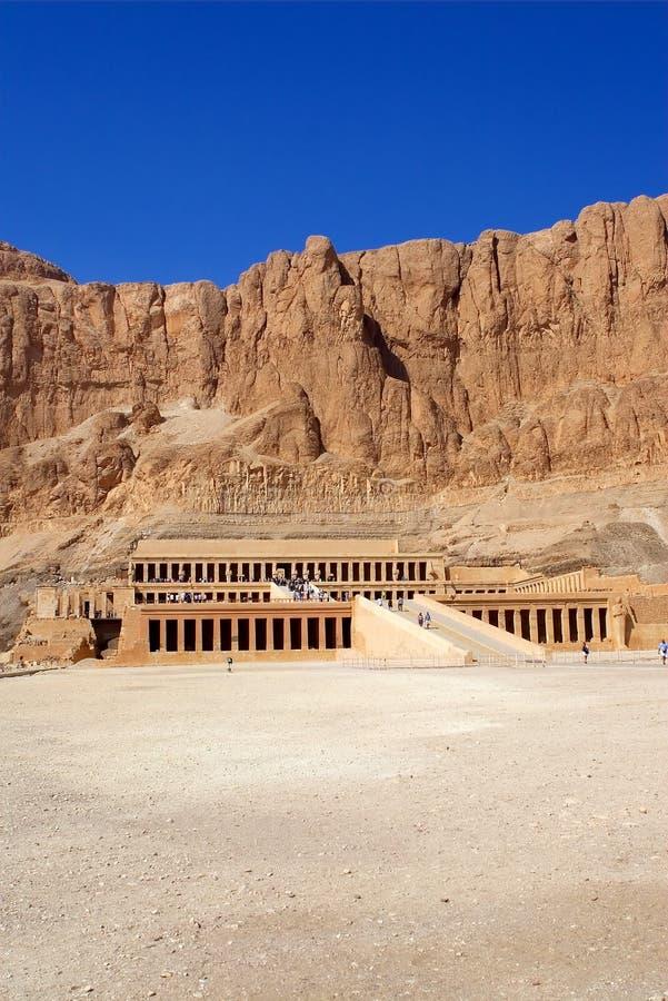 De Tempel van Hatshepsut 's royalty-vrije stock afbeeldingen
