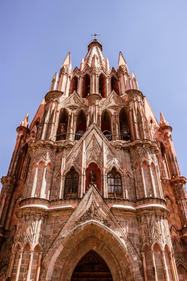 De tempel van heilige Michael Archangel in Guanajuato Mexico Michael Arch royalty-vrije stock afbeeldingen