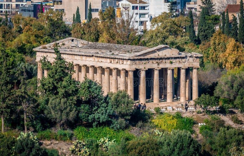 De Tempel van Hephaestus-aka Theseum in Athene royalty-vrije stock afbeelding