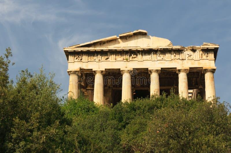 De Tempel van Hephaestus, Athene, Griekenland royalty-vrije stock fotografie