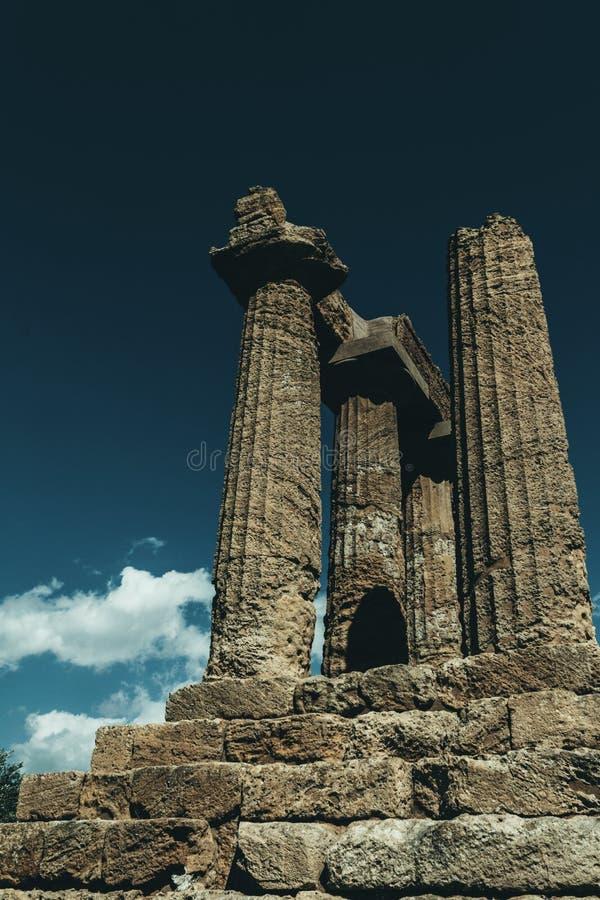 De tempel van Hercules stock afbeeldingen