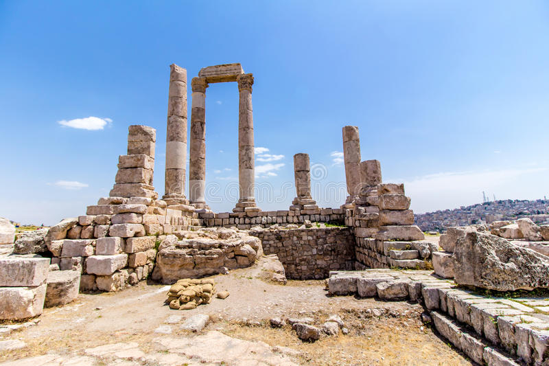 De Tempel van Hercules in Amman, Jordanië royalty-vrije stock foto